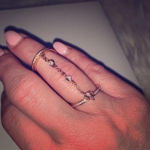 Rose Gold Fashion Ring Size 6